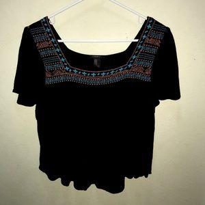 Forever 21 Peasant Cropped Blouse